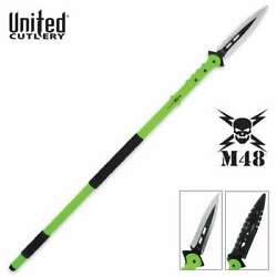 44 M48 Zombie Apocalypse Hunting Tactical Spear Knife Throwing Battle W/ Sheath