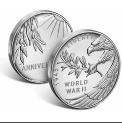 Us Mint End Of World War Ii 75th Aniversary American Eagle Silver Proof Coin