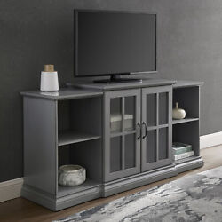 Manor Park Classic Tiered Tv Stand For Tvs Up To 65, Antique Grey