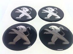 New 4pcs Silicone Stickers For Wheel Centre Cap Hubs For Peugeot - 55mm