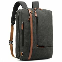 CoolBELL Convertible Backpack Shoulder bag Canvas Black Size 15.6 Inches d9HZ $11.83