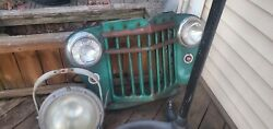 1944 -19491willys Jeep Overlander Grille Red