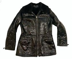 Timeless Vintage Tom Ford Patent Leather Shearling Jacket 42 It