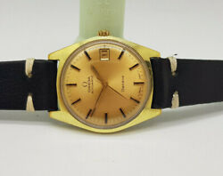 Vintage 1970 Omega Geneve Gp Gold Dial Date Cal565 Automatic Manand039s Watch
