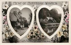 Twin White Border Puffy Heartsthatched Roof Cottagepondembrotary 7367agel