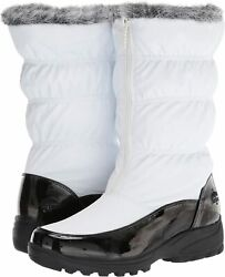 totes Women#x27;s Carmela Ruched Snow Boot Available in Wide Width White Size 9.0 $24.13