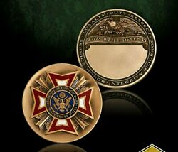 Vfw Veteran Of Foreign Wars Engravable 1.75 Challenge Coin
