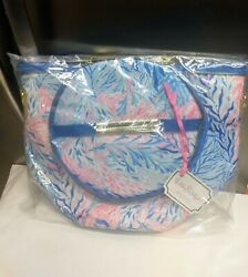 NWT Lilly Pulitzer Insulated Soft Beach Cooler w Adjustable Removable Strap Blue $40.00