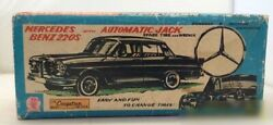 Vintage Toy Tinplate Friction Car Mercedes Benz 220s With Box/accessories Japan