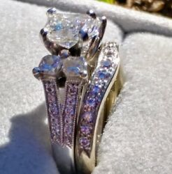Art Deco Style Diamond Engagement Ring With Accents, Size 7 In White Gold