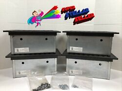 4 Electrical And Data Galvanized Steel Floor Box Five-gang Iaf-3-2 Blk Hinged Lid
