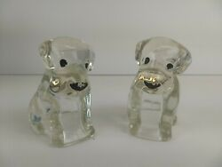 VINTAGE 1930#x27;S 2 GLASS BEAGLE DOG CANDY CONTAINER