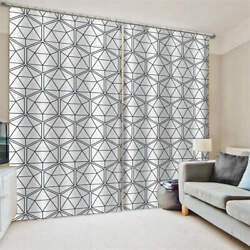 Gray Game Space Picture Stereo Printing 3d Blockout Curtains Fabric Window