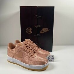 Clot X Nike Air Force 1 Low 'rose Gold Silk' Special Box - Size 9.5 - Cj5290 600