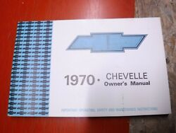 1970 Chevrolet Chevelle Original Factory Owners Manual First Edition