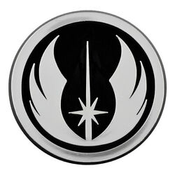Sw Jedi Order Logo Plastic Auto Emblem - [silver][3and039and039 X 3and039and039]