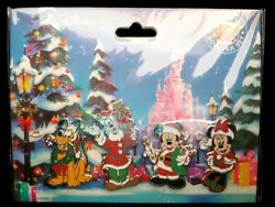 Disney Christmas Noel Booster Set of 4 Pins Mickey amp; Minnie Mouse Pluto Goofy $19.95