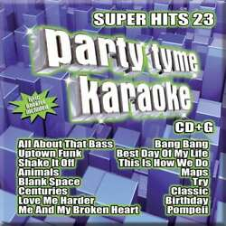 New: PARTY TIME KARAOKE Super Hits 23 CDG