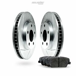 Front Slotted Brake Rotors Disc And Ceramic Pads For Express 2500,express 3500