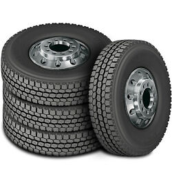 4 New Zenna Dr-750 225/70r19.5 Load G 14 Ply Drive Commercial Tires