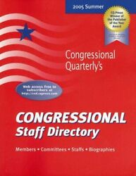 Congressional Staff Directory Summer 2005 Congressional Yellow Book