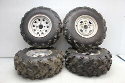 02 03 04 05 06 07 08 Yamaha Grizzly 660 Rear Back Front Wheels Rims W Tires