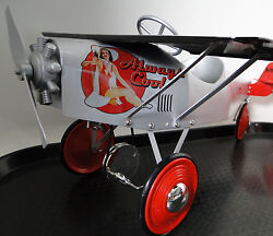 Tin Pedal Car Plane Ww2 Ford Aircraft P51 Mustang 1967 Too Small To Ride On