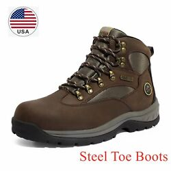 US Men#x27;s Waterproof Steel Toe Work Boots Safety Protective Industrial Shoes $50.39