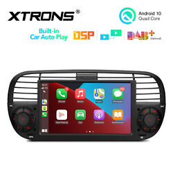 7 Android 10 2+32gb Dsp Car Stereo Radio Gps Head Unit For Fiat 500 2007-2015
