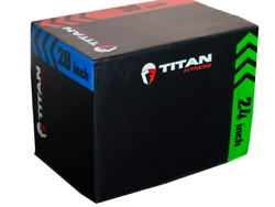 Titan Fitness 3 In 1 20 24 30 Heavy Foam Plyo Box Jumping Exercise-crossfit