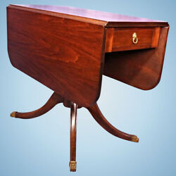 Antique Drop Leaf Table Lion Pull Dining Console Sofa Game Vintage Claw Foot