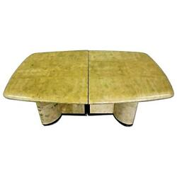 Karl Springer Dining Table Parchment Conference Mid Century Modern Art Deco