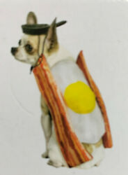 HALLOWEEN Dog Puppy Bacon amp; Egg 2 Piece Costume Size XS