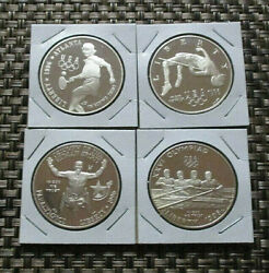 1996 P Olympic Rowing, Tennis, High Jump And Paralympics Commemorative Proof Coins