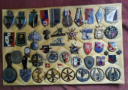Lot Of 46 Military Badges Insignia Medals Military Police Devision Enamel