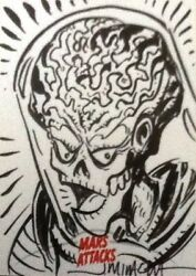 Mars Attacks Invasion - Sketch Card By Jeff Miracola Sc