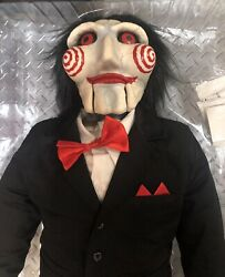 Rare Medicom 1st Ed Saw Talking Billy Puppet Pull String Jaw Life Size Prop.
