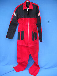 Nos 1980and039s Champion Spark Plugs Pit Crew F- 1 Boat Racing Team Suit Overalls