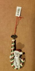 Lot Of 6 Baby White Tigers On Candy Cane- Christmas Ornament From Busch Gardens