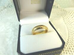 22ct Gold Wedding Band Ring 6mm Size M 7.7 Grams