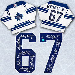 1967 Toronto Maple Leafs 11 Player Team Signed White Stanley Cup Ccm Jersey /67