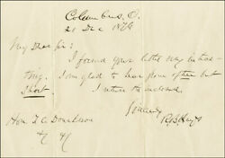 Rutherford B. Hayes - Autograph Letter Signed 12/21/1876