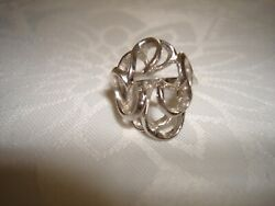 Vintage Unique Collectible Nice 14k Solid White Gold Women's Ring Size 6.75