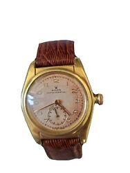 Vintage 2940 Gold Rolex Oyster Perpetual With Genuine Leather Band With Case