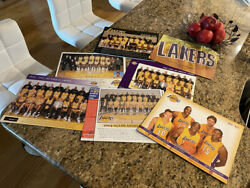 Los Angeles Lakers Official Team Photos / Schedule Placards - Lot Of 29