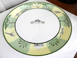 Hermes Africa Round Platter Chop / Tart Dish Plate 12 1/2 Exclnt Cnd - Nice