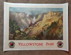 1920s Northern Pacific Railroad Yellowstone Park Litho