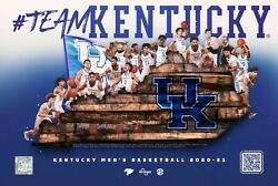 Kentucky Basketball 2020-2021 Poster Roster Uk Wildcats 1 Case Of Posters 100