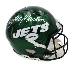 Curtis Martin Signed New York Jets Speed Authentic Green Nfl Helmet
