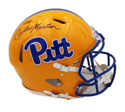 Curtis Martin Signed Pittsburgh Panthers Speed Authentic Ncaa Helmet